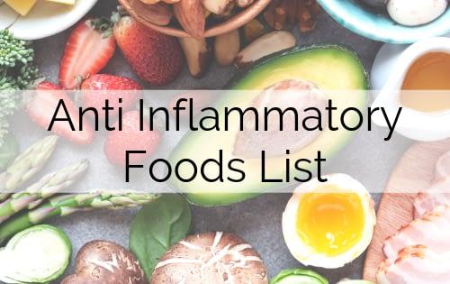 Anti Inflammatory Foods List
